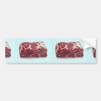 Carne asada de cerdo del extremo etiqueta de parachoque