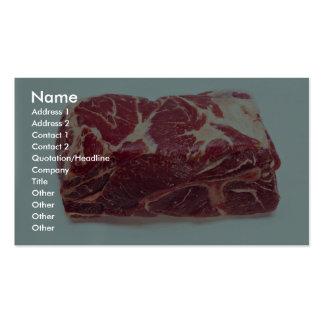 Carne asada de cerdo del extremo tarjetas de visita