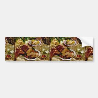 Carne asada de cerdo deliciosa pegatina de parachoque
