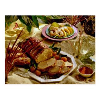 Carne asada de cerdo deliciosa tarjetas postales