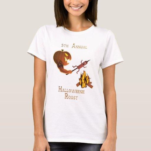 Carne asada de Halloweenie - camisetas ligero