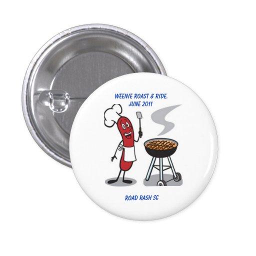 Carne asada de Weenie y botón del paseo Pin