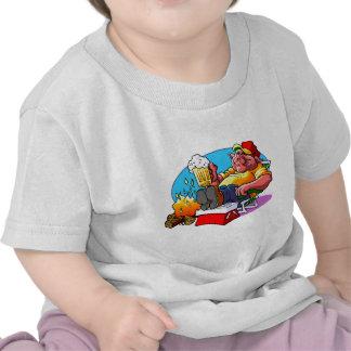 Carne asada del cerdo del dibujo animado camiseta