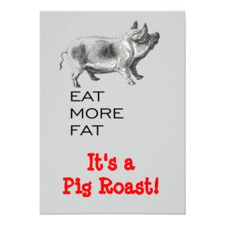 """Carne asada del cerdo invitación 5"""" x 7"""""""