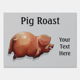Carne asada del cerdo: Pintura del cerdo gordo lin