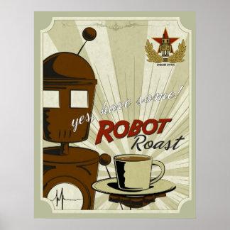 Carne asada del robot impresiones