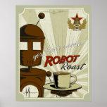 Carne asada del robot póster