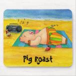Carne asada Mousepad del cerdo Tapete De Raton