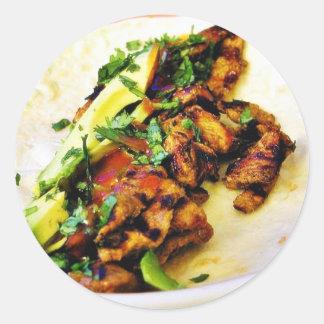 Carne Asada Tacos Classic Round Sticker