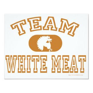 ¡Carne blanca del equipo! Anuncio Personalizado