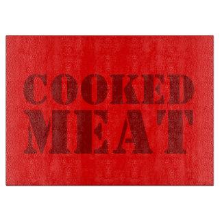 carne cocinada tablas para cortar