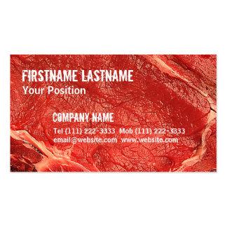 Carne cruda fresca tarjetas de visita