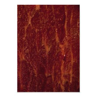 Carne cruda invitación personalizada