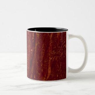 Carne cruda tazas de café
