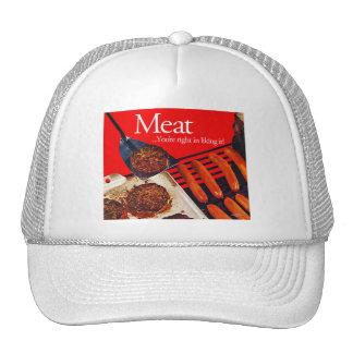 Carne de la hamburguesa del kitsch del vintage ust gorro
