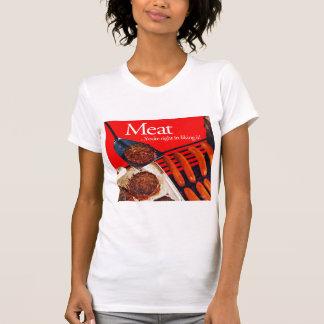 Carne de la hamburguesa del kitsch del vintage ust camisetas