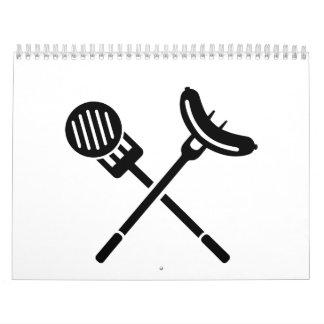 Carne de salchicha del Bbq Calendario De Pared