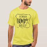 Carne de vaca 100% de Iowa Playera