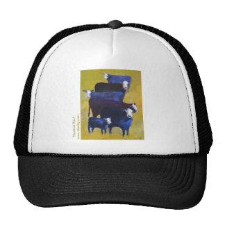 Carne de vaca apilada gorras