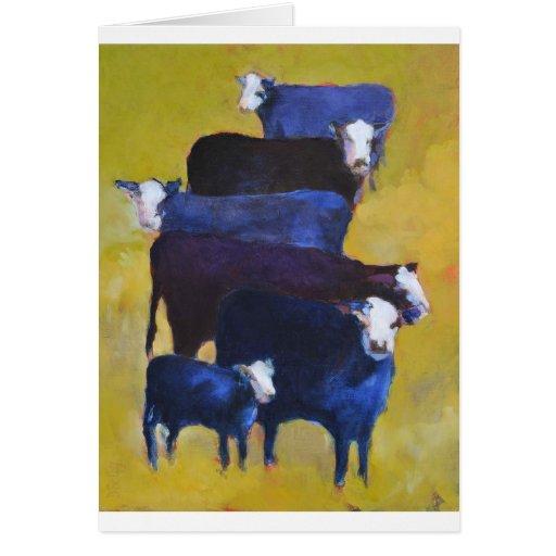 Carne de vaca apilada tarjeta de felicitación