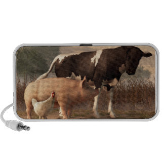 Carne de vaca, cerdo, y aves de corral portátil altavoces