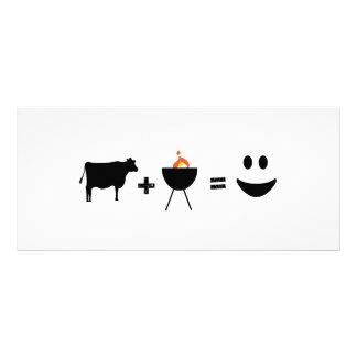 Carne de vaca del Bbq feliz Diseño De Tarjeta Publicitaria