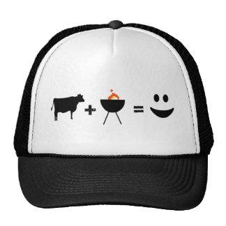 Carne de vaca del Bbq feliz Gorros
