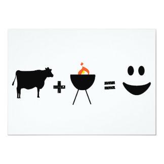 """Carne de vaca del Bbq feliz Invitación 5"""" X 7"""""""