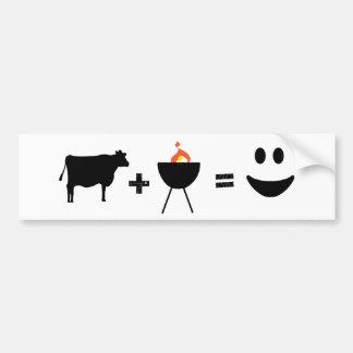 Carne de vaca del Bbq feliz Pegatina Para Auto