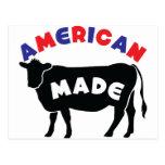 Carne de vaca hecha americana tarjeta postal