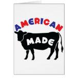 Carne de vaca hecha americana tarjeton