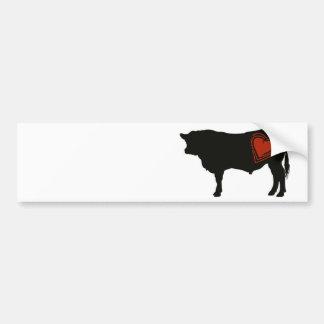 Carne de vaca negra de Angus del amor Etiqueta De Parachoque