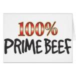 Carne de vaca primera el 100 por ciento felicitacion
