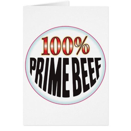 Carne de vaca primera tarjetón