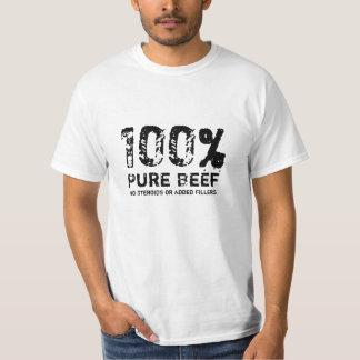 Carne de vaca pura del 100% playera