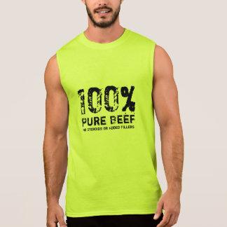 Carne de vaca pura del 100% camisetas sin mangas