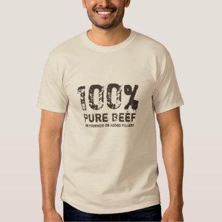 Carne de vaca pura del 100% playeras
