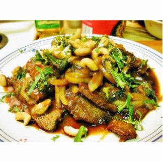 Carne de vaca Teriyaki que cocina la comida asada  Fotoescultura Vertical