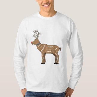Carne del reno para el navidad poleras