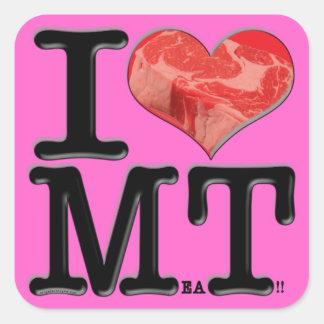 Carne I (del corazón) Pegatina Cuadradas