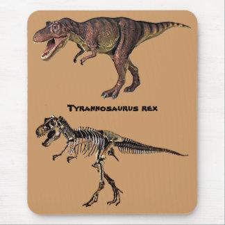 Carne-n-Hueso de T-rex Mousepad Tapete De Ratón