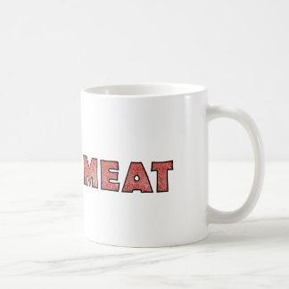 Carne picada divertida de la carne taza básica blanca