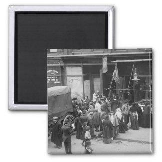 Carne Riot 1910 de NYC Imán Para Frigorífico