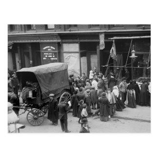 Carne Riot 1910 de NYC Tarjeta Postal