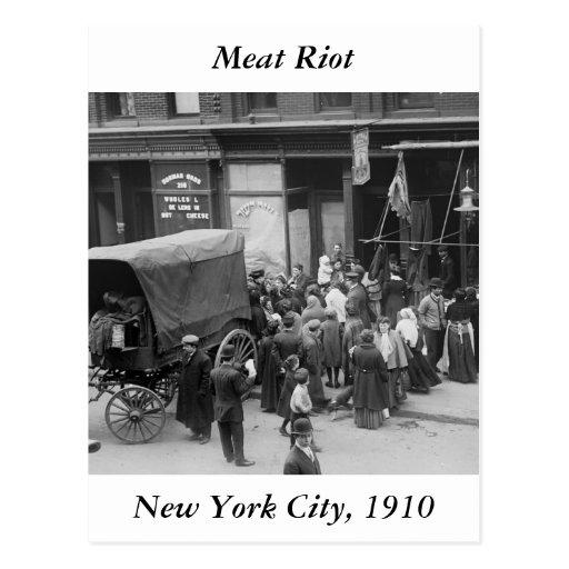 Carne Riot, 1910 de NYC Tarjetas Postales