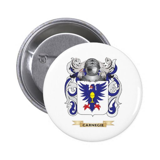 Carnegie Coat of Arms (Family Crest) Buttons