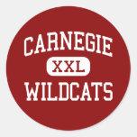 Carnegie - gatos monteses - alto - Carnegie Pegatinas Redondas