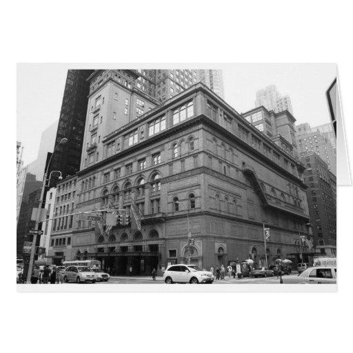 Carnegie Hall Tarjeta De Felicitación