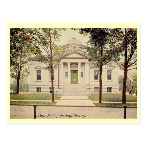 Carnegie Library, Flint, Michigan Vintage Post Cards