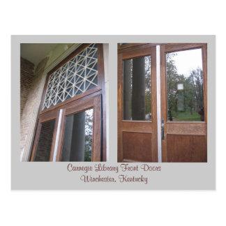 Carnegie Library Front Door... Postcard